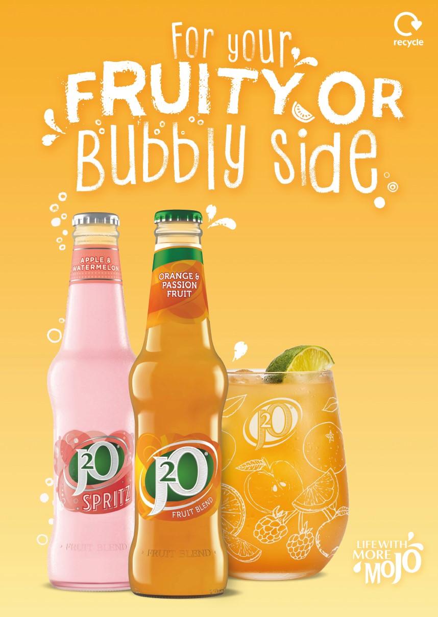 J2O fruity bubbly side